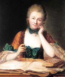 Inconnu,_portrait_de_madame_Du_Châtelet_à_sa_table_de_travail,_détail_(château_de_Breteuil)_-001