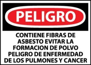 ASBESTO PELIGROSO Y CANCERÍGENO